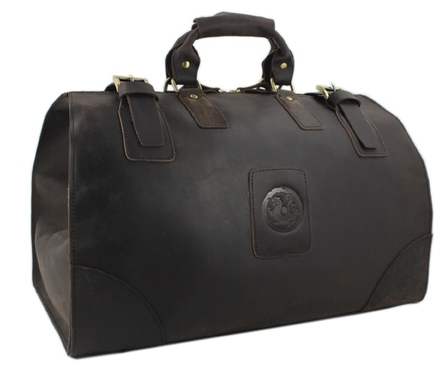 2018 винтажные кожаные мужские дорожные сумки Crazy Horse, кожаная спортивная сумка, дорожные сумки, Мужская большая сумка, большая коричневая сум...