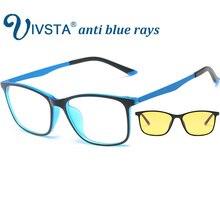IVSTA оптическая оправа анти голубые лучи игровые очки мужские для Computerb гибкие TR90 супер светильник тонкий квадратный по рецепту градусов