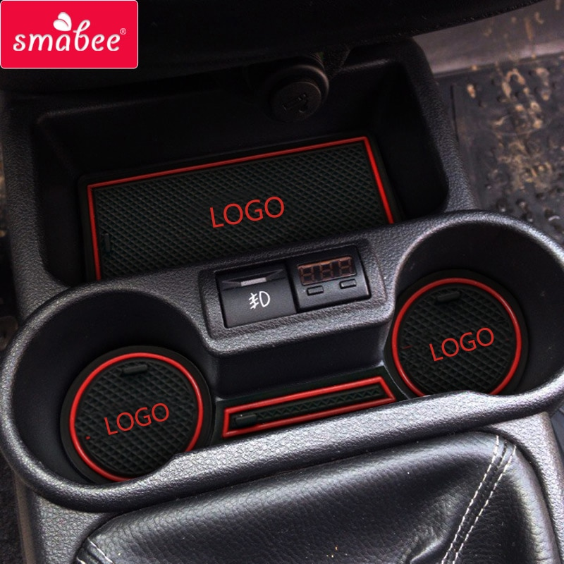 Smabee Anti-Slip Gate Slot Cup Mat for Lada Granta Interior Non-slip mat Accessories Door Pad 9pcs/1