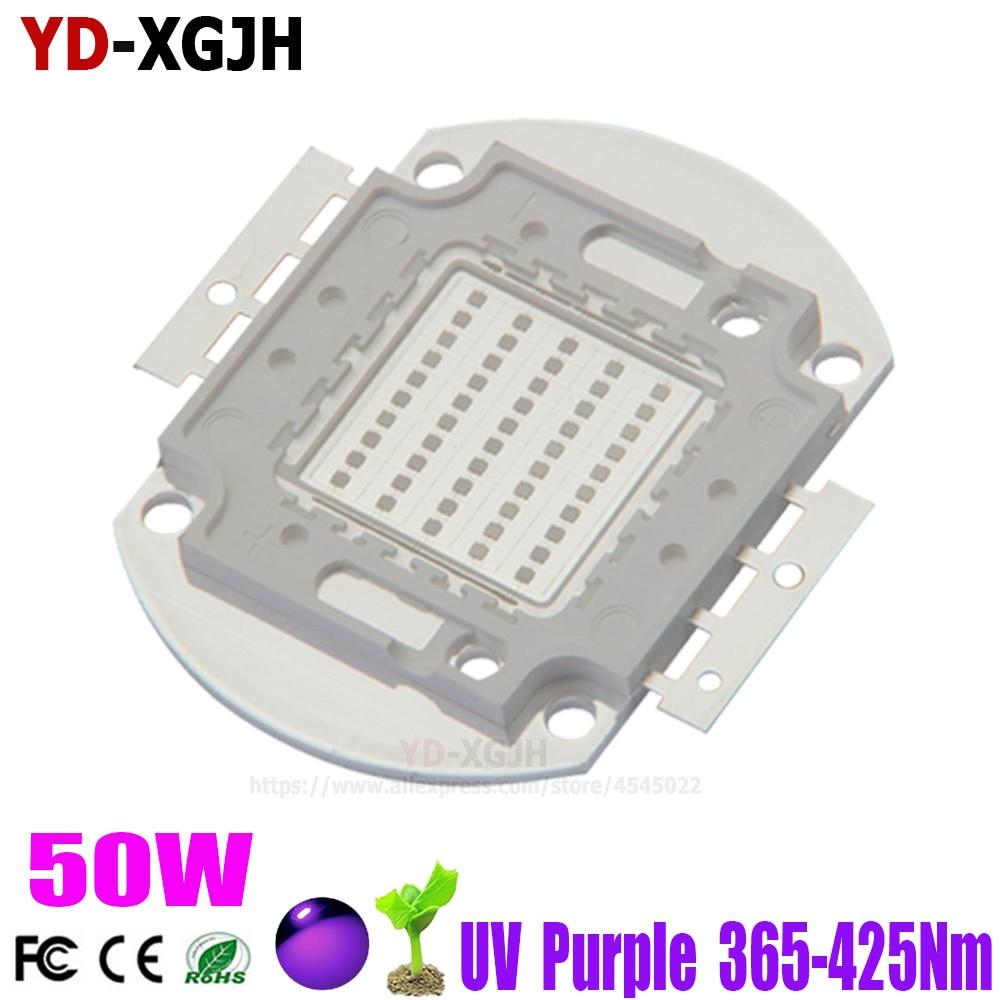 UV LED púrpura integrado 365nm 370nm 375nm 380nm 385nm 390nm 395nm 400nm 405nm 410nm 425nm para SMD lámpara 50W