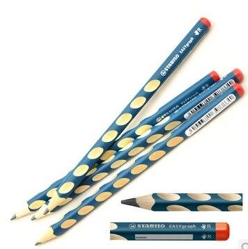 Детская Ручка stabilo, треугольный карандаш-карандаш с толстым валом для коррекции HB, Детская рукоятка, 1 шт.