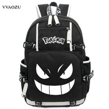 Anime lumineux impression sac à dos Pokemon Gengar Cosplay sacs à dos sacs décole pour adolescente filles garçons Mochila Feminina