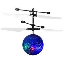 ABWE Besten Verkaufen Infrarot Induktion Drone Fliegen Flash-led-beleuchtung Ball Hubschrauber Kind Kind Spielzeug Geste-Sensing Keine Notwendigkeit zu Bedienen