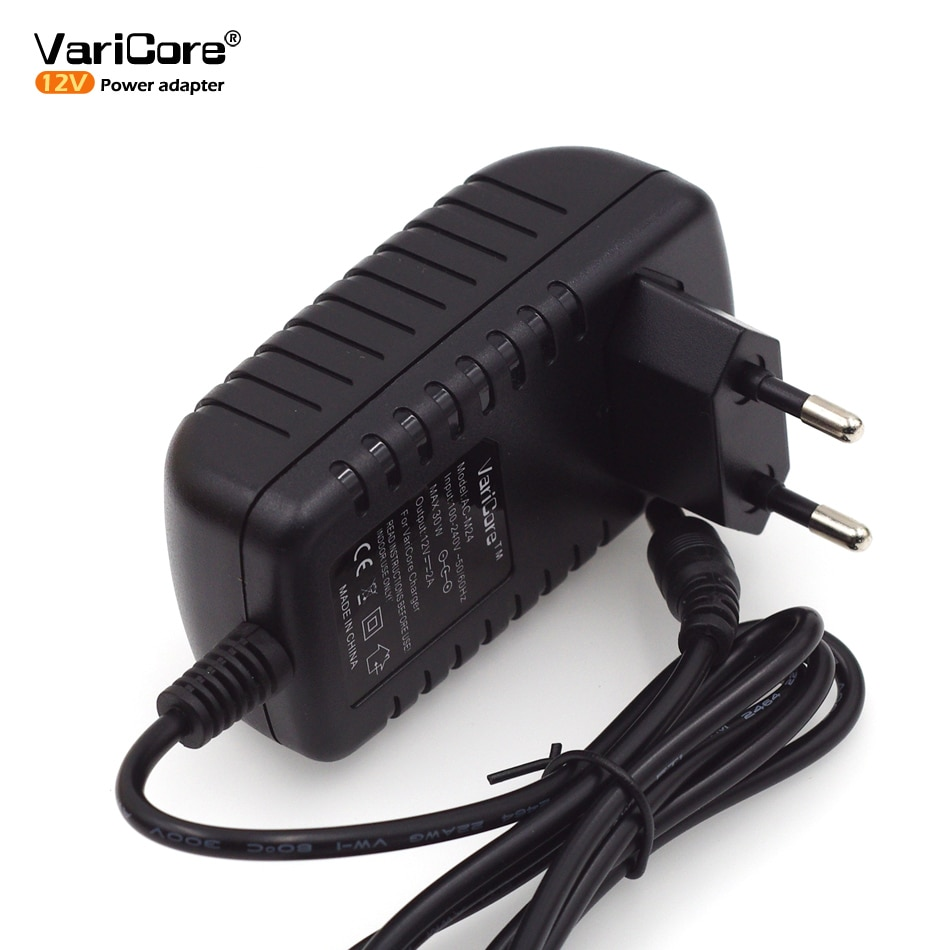 VariCore V-40 12V 2A adaptador de corriente 12V 18650 cargador de batería EU/US enchufe DC 5,5*2,1 MM Fuente de alimentación de salida