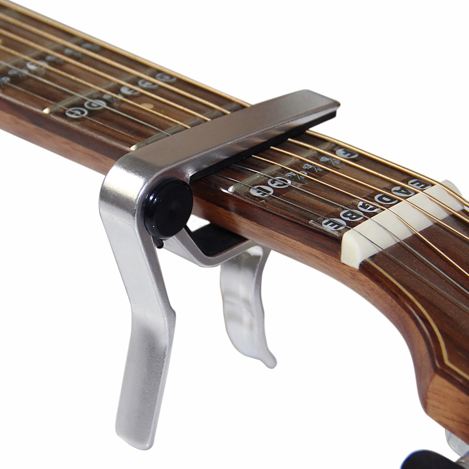 Alice eléctrico cejilla guitarra acústica violín bajo cejilla de ukelele solo melodía abrazadera de gatillo Material de Metal