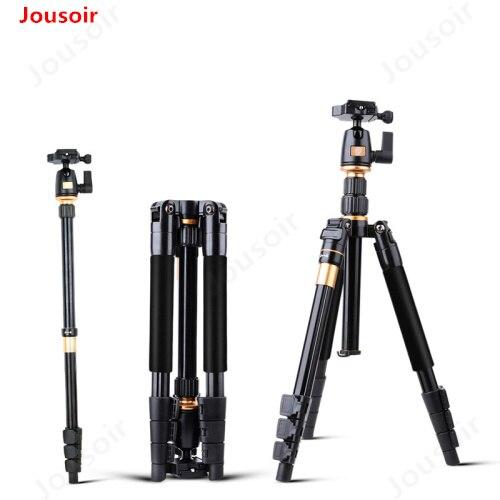 Trípode de cámara QZSD Q555 aleación de aluminio cámara vídeo Monopod profesional extensible trípode con placa de liberación rápida soporte CD15