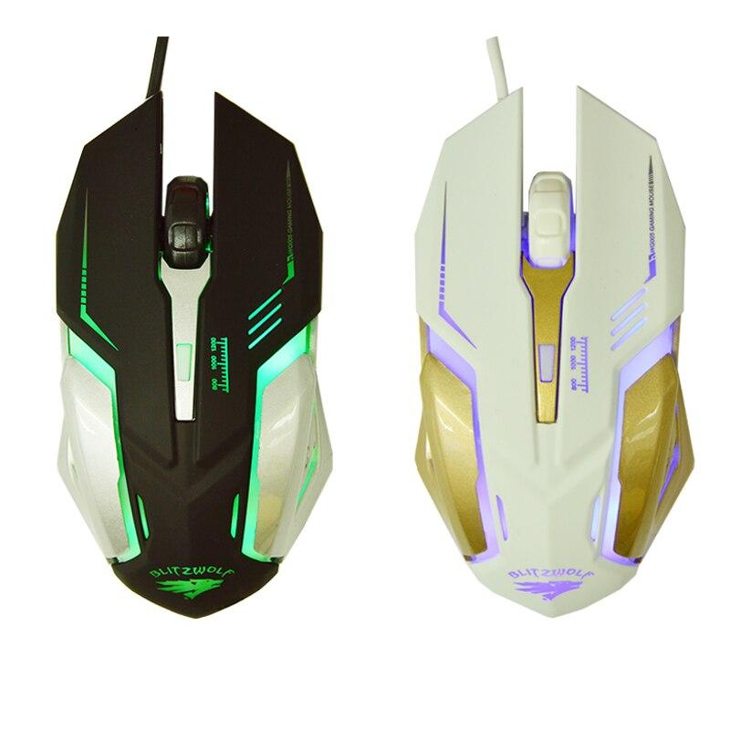 Ratón fotoeléctrico SUNROSE e-sports, cable emisor de luz para ordenador de escritorio, hogar, oficina, descuento especial CF