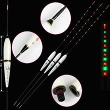 Flotteurs de pêche lumineux de haute qualité 1-3 # Composite Nano électrique veilleuse lumineux flotteurs bouchon Pesca outils de Bobbers de pêche