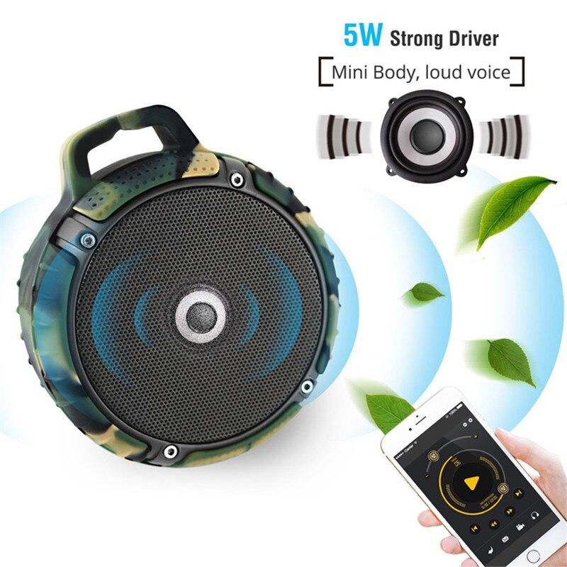 Bluetooth Speaker Mini Waterdichte IPX7 Draagbare Draadloze Handfree Herkiezen TF Card Stofdicht Anti Vallen Sleutelhanger Audio Speler