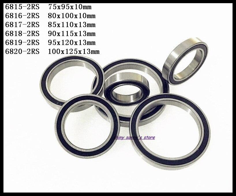 1-2 unidades/lote 6815-2RS,6816-2RS,6817-2RS,6818-2RS,6819-2RS, el rodamiento rígido de bolas de pared delgada de goma completamente nuevo