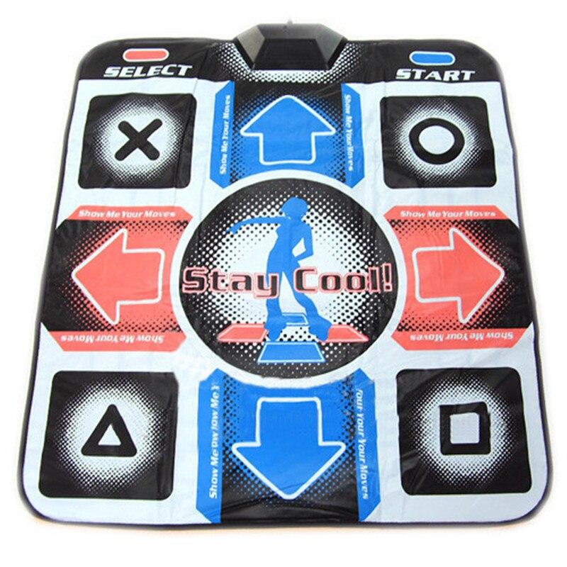 USB RCA antideslizante paso de baile Mat Pad para PC TV AV Video juego