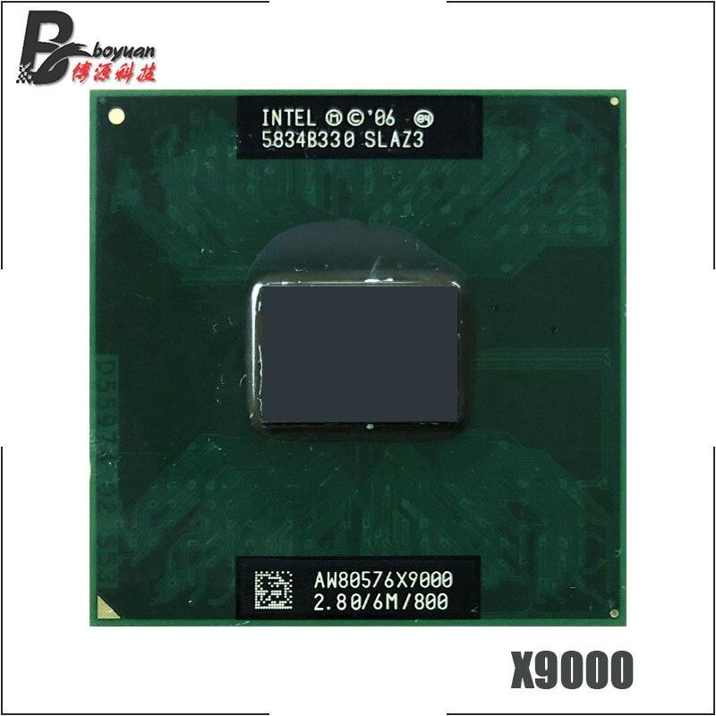 Procesador Intel Core 2 Extreme X9000 SLAQJ SLAZ3 2,8 GHz Dual-Core Dual-Hilo de procesador de CPU 6M 44W Socket P