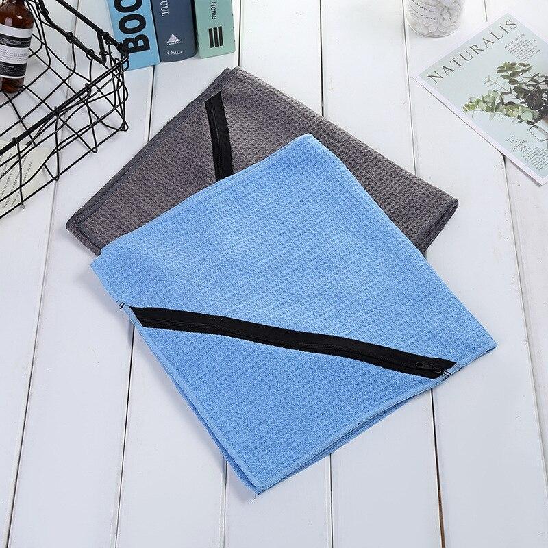 Toalla deportiva de verano y deportiva con cremallera, toalla de fibra ultrafina para exteriores 30x110, toalla de fregado grande de fábrica