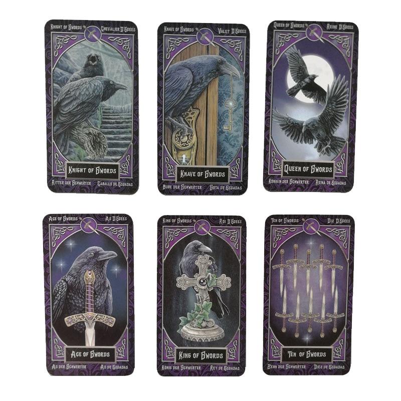 78 tarjetas para Familia, cartas íntimas de tarot, versión en inglés, español, francés, alemán, animal misterioso, tarjetas mágicas de inmersión gam