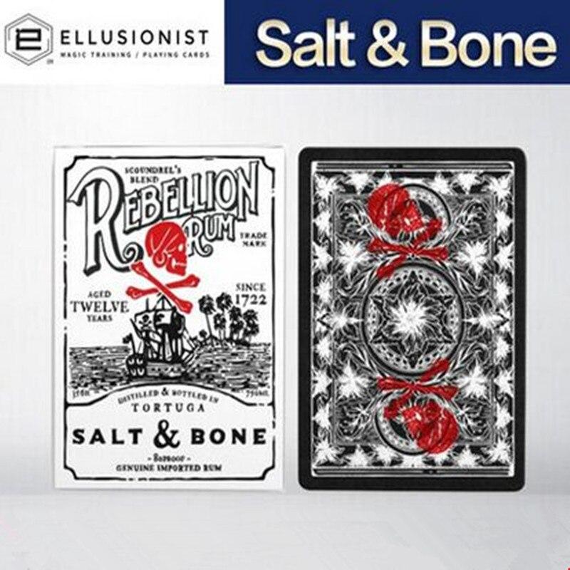 1 Uds. Cartas de póker de sal y hueso, tamaño Deck por Ellusionist Cartamundi edición limitada, nuevos accesorios de magia sellados, trucos de magia