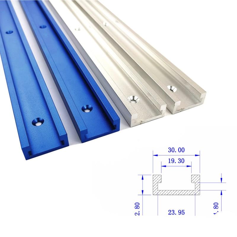 300-800mm Woodworking T-slot Miter Track Aluminum Alloy T-Track Miter Gauge Track Slot for Wood working Workbench Tools