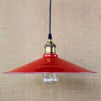 Loft Warehouse Terrace Cafe Restaurant Bar racks wrought iron pot retro industrial Chandelier E27 lamp red chandelier