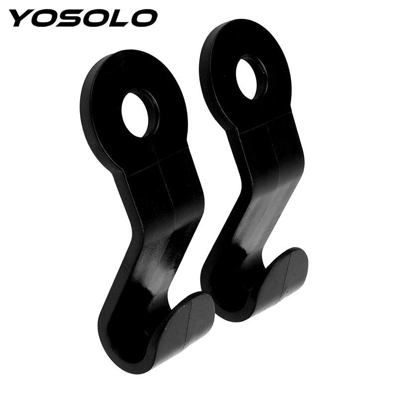 YOSOLO 2pcs Car Hanger Holder Hook for Bag Back Seat Headrest Organizer Car Clips Auto Fastener Clip