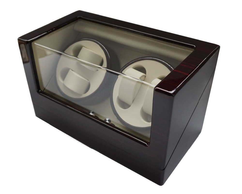 Luxury Watch Winder Box, 2018 Best Gift Watch Winder Display for Brand Watches&Storage Case 4 Grid Lacquer Wooden Watches Rotate enlarge