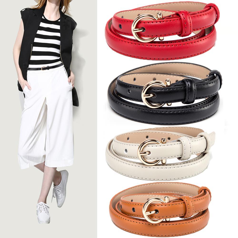 Ceinture en DENIM pour femmes   BISON, cuir véritable, ceinture en peau de vache, femme, boucle ardillon mode, ceinture femme, N60224