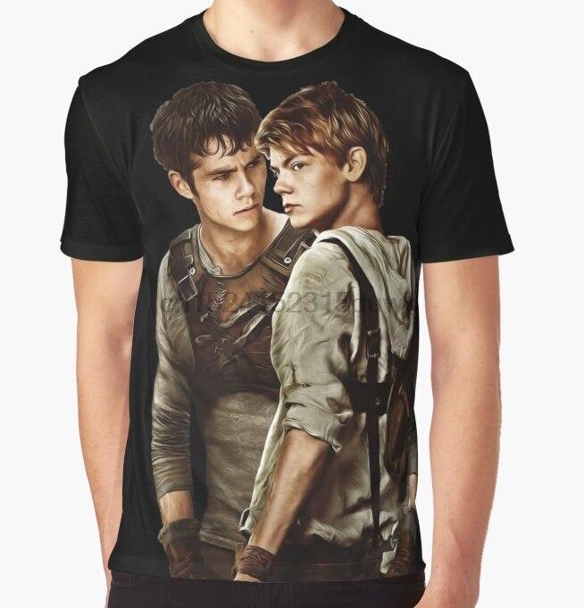 Camiseta estampada para hombre, divertida camiseta Newt X Thomas Maze Runner Aquarell, camisetas con diseño gráfico para mujer