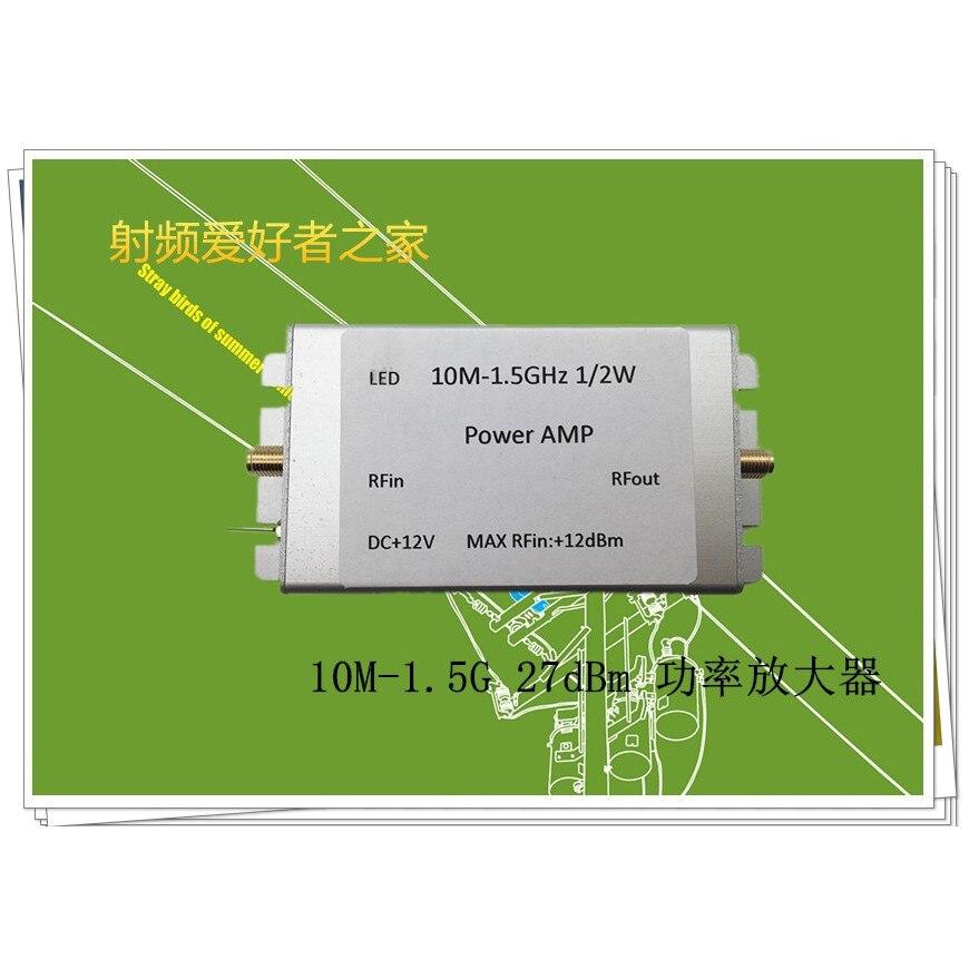 AMPLIFICADOR DE POTENCIA RF de banda ancha de 10MHz-1,5 GHz ganancia de 32dB salida blindada de 27dBm