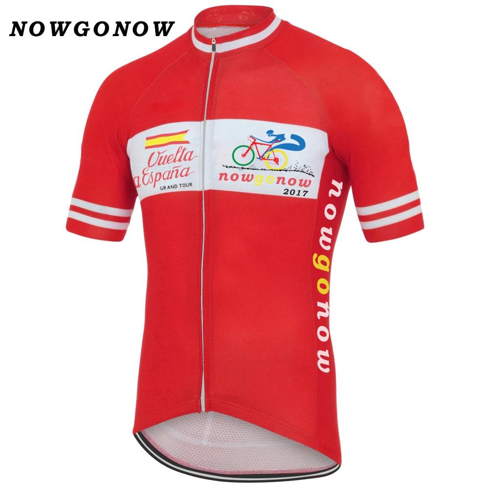 Clásico de 2017 de la España equipo rojo Ciclismo Jersey hombre Jersey líder tour Retro Ropa de bicicleta carretera ciclista Maillot Ropa Ciclismo marca