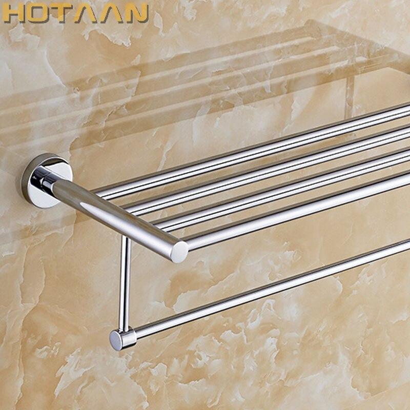 الحمام جولة حمام منشفة رف الكروم تلميع جودة الحائط منشفة السكك الحديدية حامل المرحاض بار الصلبة براس صنع YT-10101