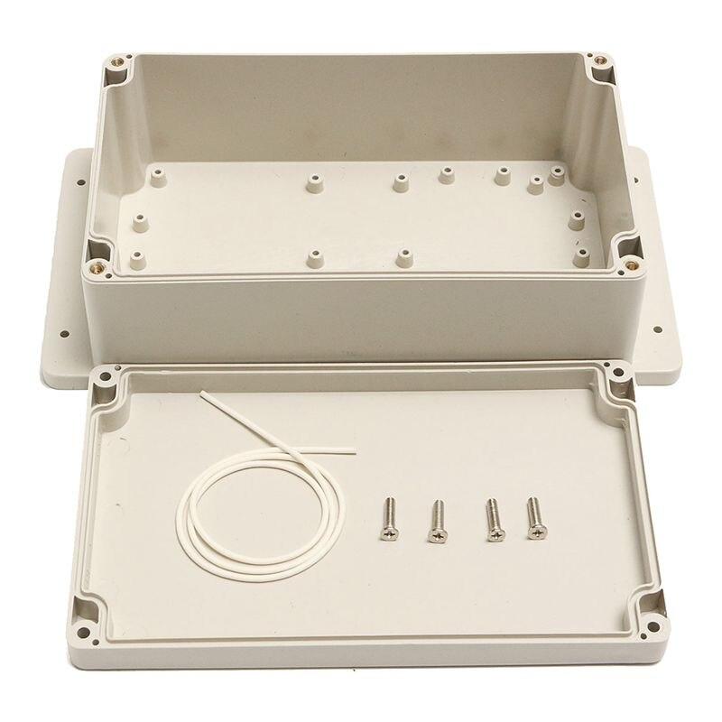 Caja de proyecto electrónica ABS de plástico resistente al agua, caja de 200x120x75MM, color blanco
