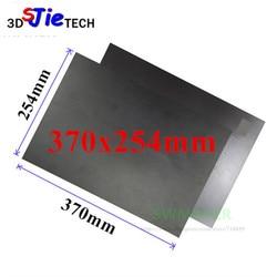 370X254mm Magnética Cama Impressão Fita Adesiva Adesivo De Impressão Flex Placa PC Construir Superfície com 3 m para DIY impressora de TEVO Black Widow 3D