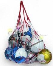 1 pièces filet de Football sportif en plein air 10 balles sac de transport en filet