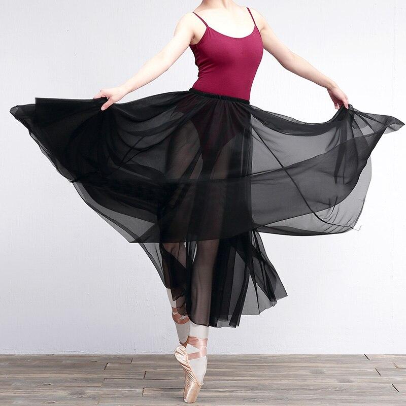 New Brand Sexy Elegant Chiffon Long Skirt Women A-line Tulle Tutu Wedding Party Dance Ballet Bandage Maxi