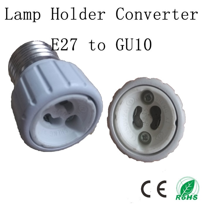 5 pçs/lote a alta qualidade LED suporte da lâmpada converter, E27 para GU10 base de, E27 soquete adaptador titular