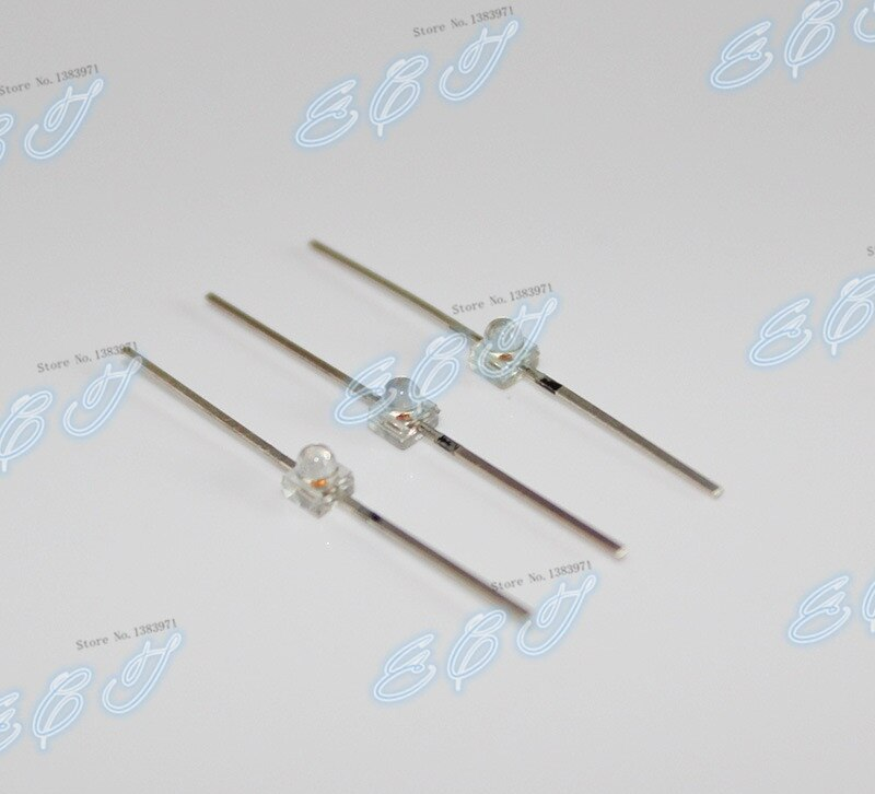 Haute qualité 1.8MM LED ultra lumineuse F1.8 avion avion I type petit papillon LED blanc à émeraude lumière vert lampe perle