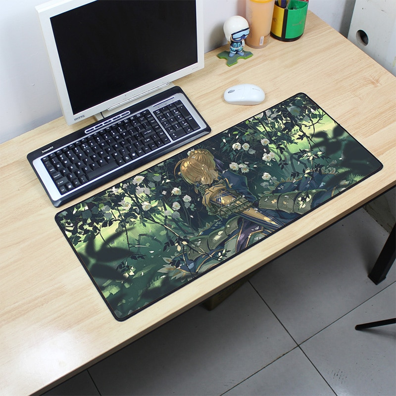 Fate Saber padmouse 70x30cm fgo pad to mouse notbook computer mousepad desk large gaming mouse pad g