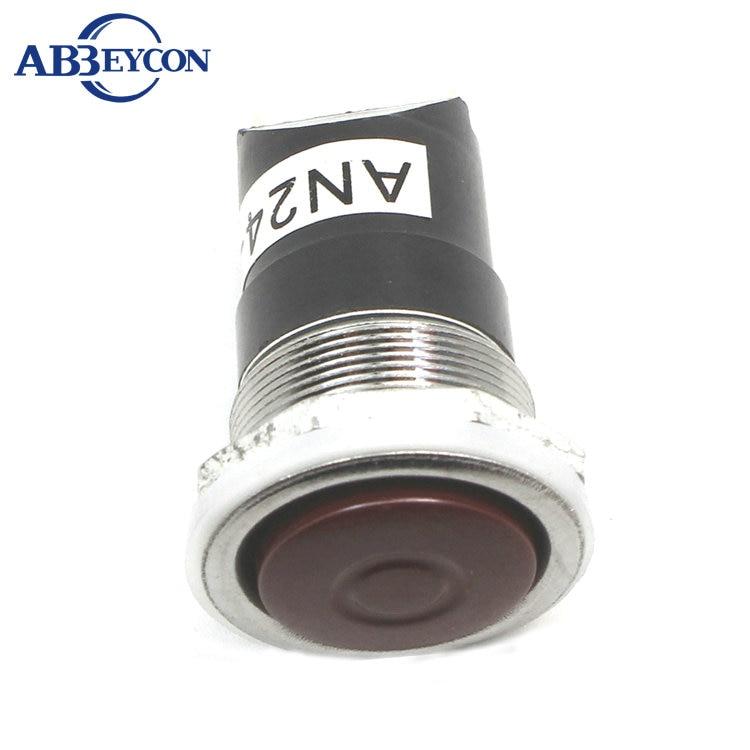 ns197 an24 k on off spst 2 pin 20mm tipo pesado botao switch20mm empurrar interruptor