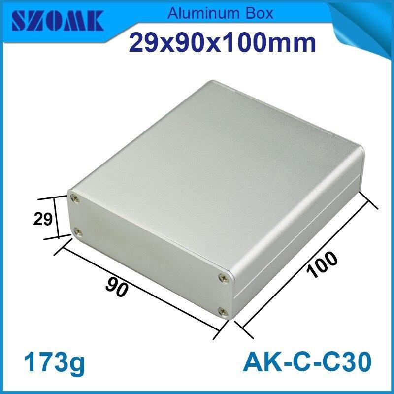 4 قطعة/الوحدة الالكترونيات حالة الضميمة الألومنيوم الإلكترونية التبديل مربع التي في اللون الفضي مناسبا pcb حجم 20.5x80.6 ملليمتر جودة مربع