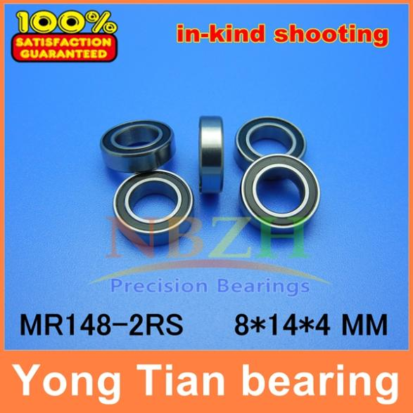 NBZH высокое качество MR148-2RS ABEC-5 8*14*4 мм шарикоподшипники MR148RS L1480 10 шт./лот