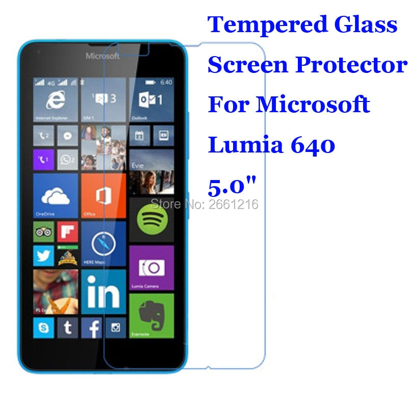 Para Lumia 640 de vidrio templado 9 H 2.5D Premium de película...