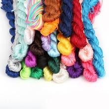 Joyas de cuentas de nailon de 1mm x 24m hilo de cuerda de macramé de nudo chino para herramientas de artesanía DIY hilo para coser a mano