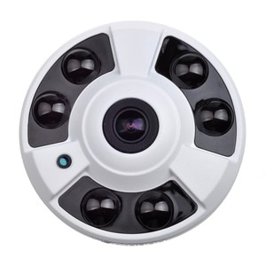 2MP POE Camera 180 Degree 360 Degree Fisheye Lens IR Distance 40M Vandalproof ONVIF P2P Dome CCTV Security Indoor IP Camera
