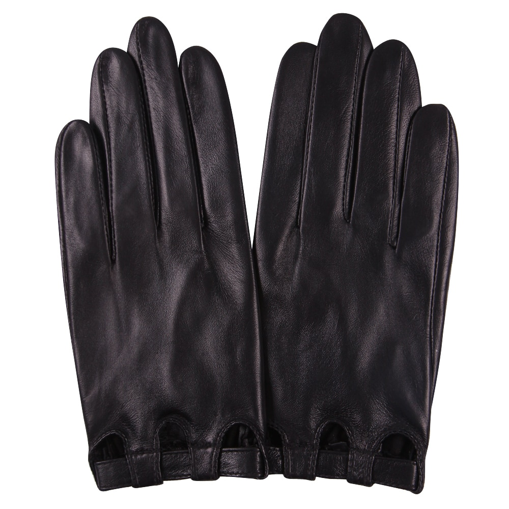 Genuine Leather Woman Gloves Spring Autumn Thin Style Unlined Driving Fashion Touchscreen Sheepskin Gloves Female L17047 man s real leather gloves thin spring autumn driving sheepskin gloves male unlined fashion simple free shipping te0625a