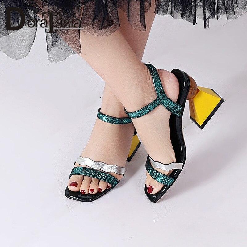 DORATASIA/новый бренд класса люкс из натуральной коровьей кожи Летние сандалии