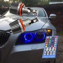 36W Canbus H8 led ange yeux éclairage E87 E90 M3 E82 E92 M3 E60 X5 X6 E89 Z4 RVB led qui change de couleur halo lumineux de contrôle IR