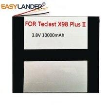 Аккумулятор большой емкости для Teclast X98 Plus II 2, планшетный ПК, литий полимерный перезаряжаемый аккумулятор, замена 3,8 В, 10000 мАч