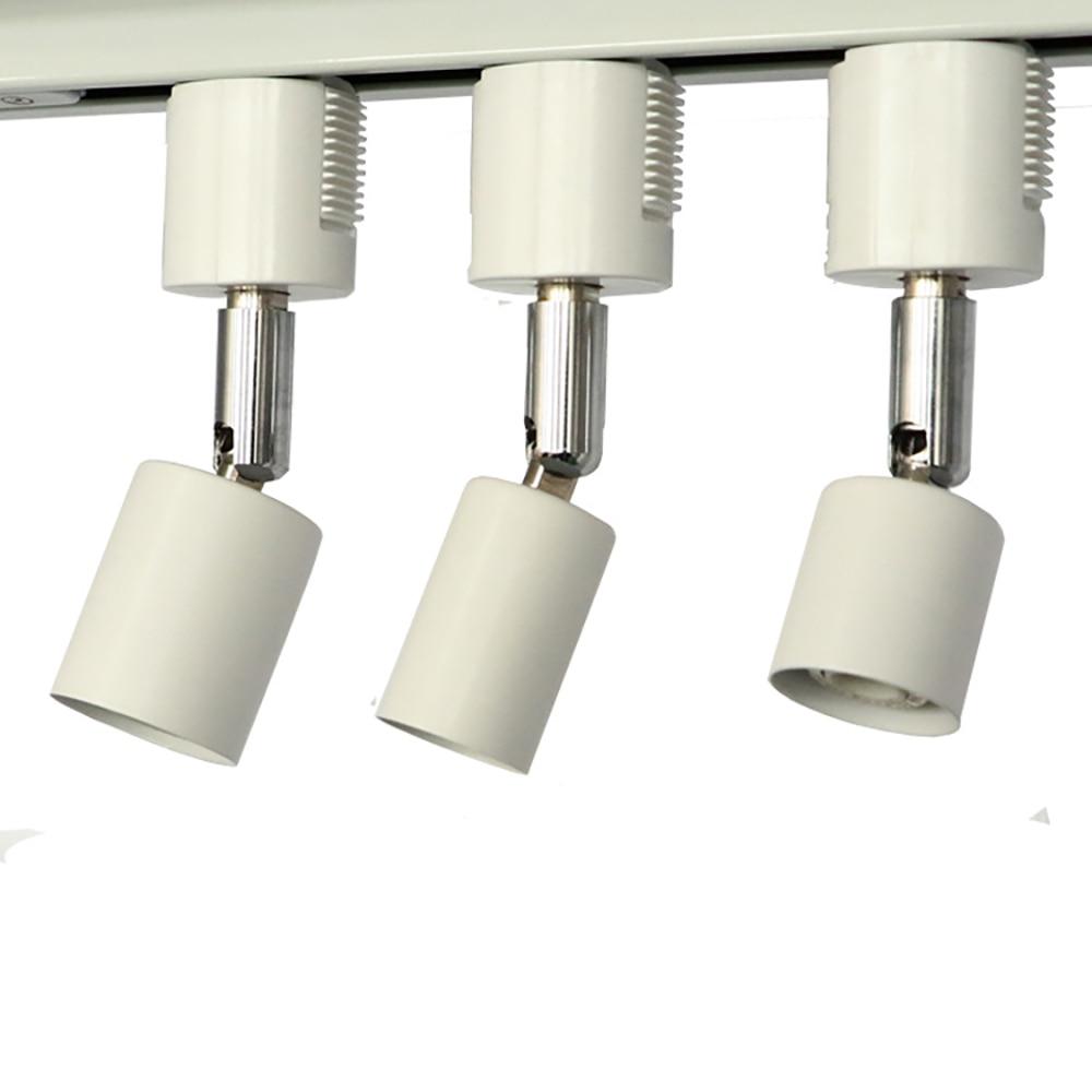 Toma de luz de pista LED E26, cabezal de luz de pista de 2 cables, extensor de enchufe de luz E26 de uso japonés