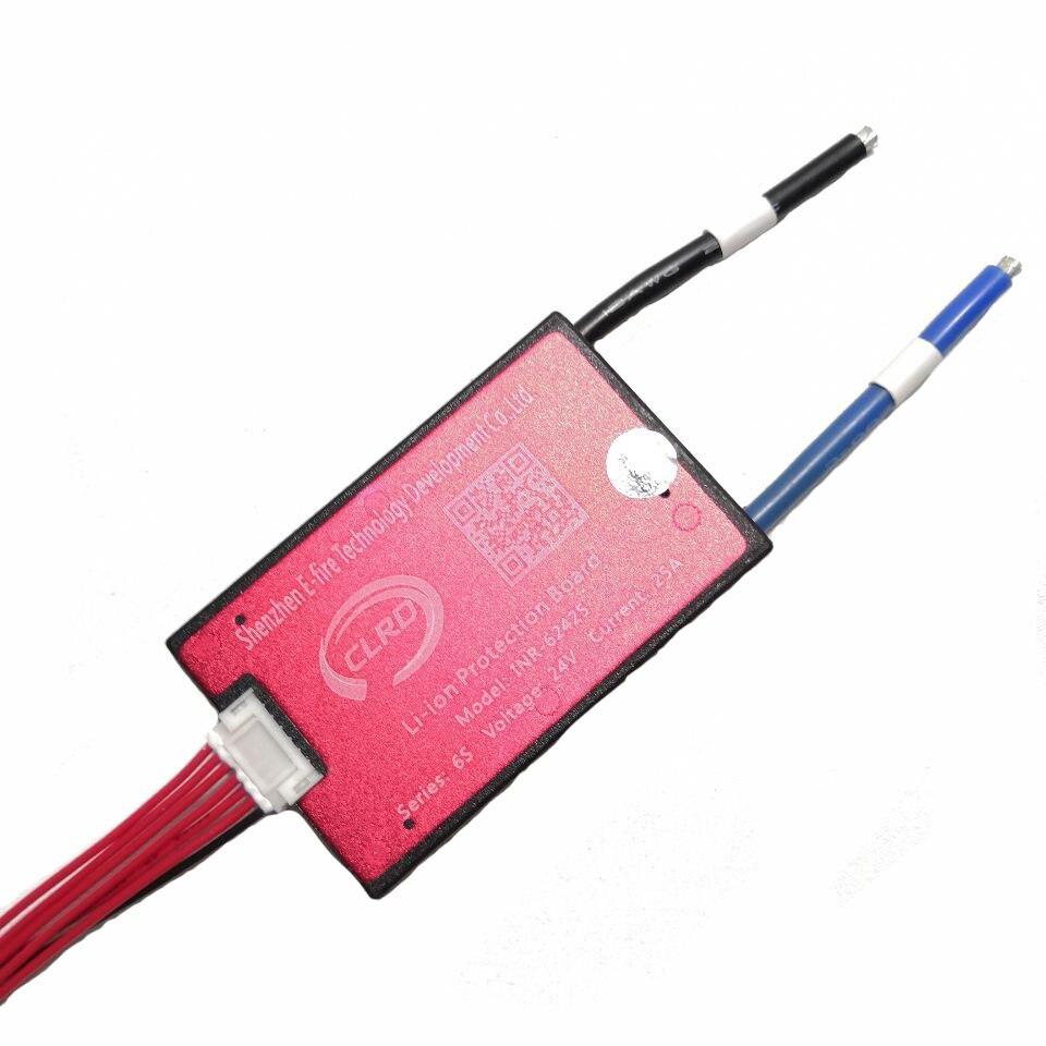 Impermeable 6S 24V 15A 40A PCM PCB BMS batería de iones con función de equilibrio