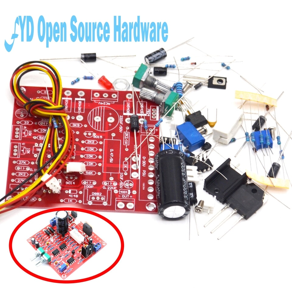 0-30V 2MA-3A adjustable DC power supply laboratory power short-circuit current limit protection DIY