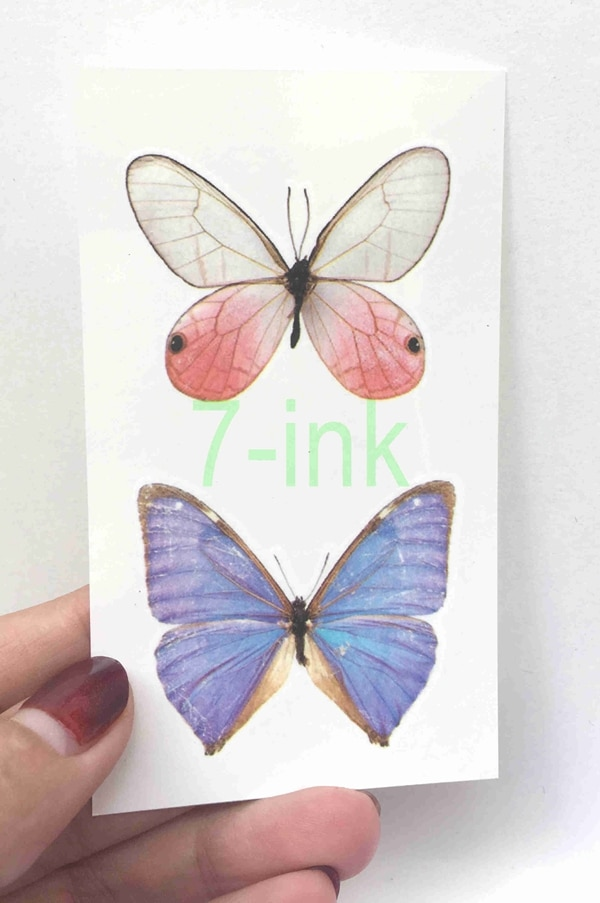 Tatuaje falso de transferencia de agua, pegatina hermosa mariposa de ensueño, tatuaje a la moda, tatuaje temporal impermeable para adultos y niños de 10,5*6 cm