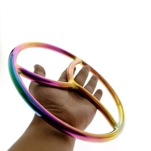 Arc-en-ciel Shibari anneau acier inoxydable Chasitity suspension Shibari Bondage et corde jeu SHIBARI SUSPENSION anneau jouet sexuel chaud